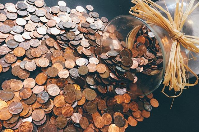 váza na mince