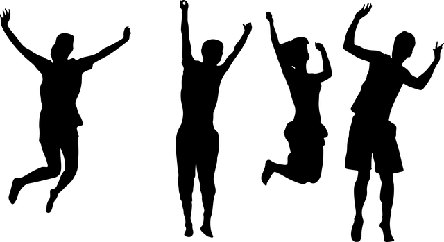 čtyři skokani