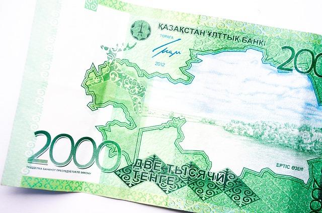 zelená kazašská bankovka